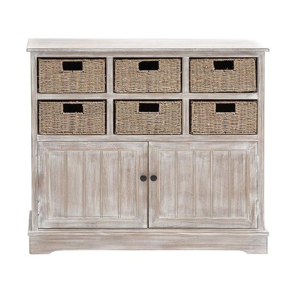 Wood Six-basket Cabinet