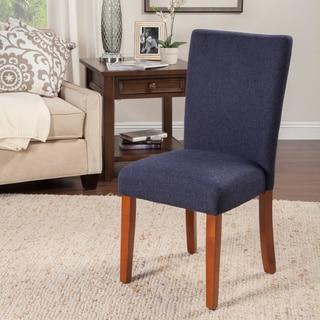 HomePop Parson Chair Blue Everly Oceanside Single