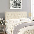 Modway Clique Upholstered Button-tufted Ivory Headboard