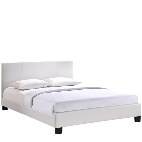 Modway Alex Vinyl Bed Frame in White
