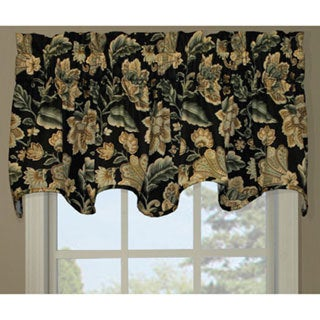 Valerie Black Scallop Window Valance