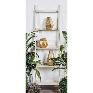 Wooden 69-inch Leaning Shelf