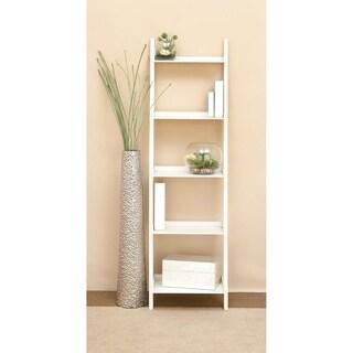 Wooden 68-inch Leaning Shelf