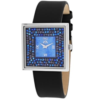 Jivago Women's JV7411 Brillance-S Square Black Strap Watch