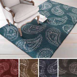 Hand-tufted Finn Paisley Wool/Viscose Rug (8' x 11')