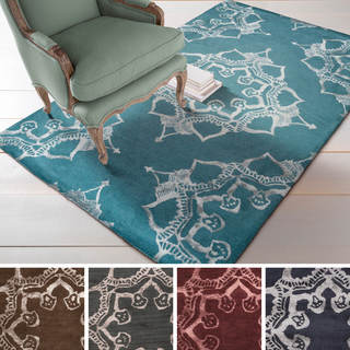 Hand-tufted Lance Wool/Viscose Rug (8' x 11')