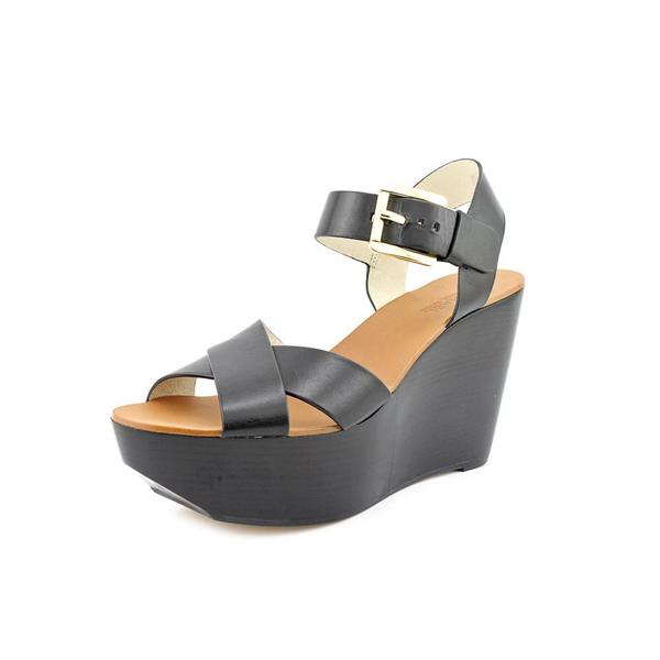Michael Kors Women's 'Peggy Wedge ' Leather Sandals