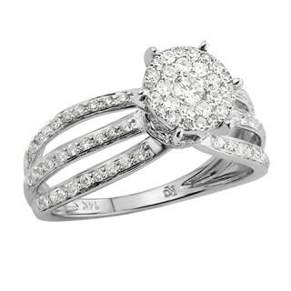 14k White Gold 5/8ct TDW Diamond Engagement Ring (G-H, SI1-SI2)