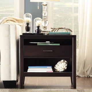 INSPIRE Q Sierra Espresso 1-Drawer Wood Open Accent Table
