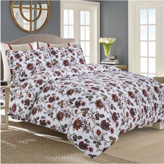 Rainforest Flannel 3-piece Duvet Cover Set