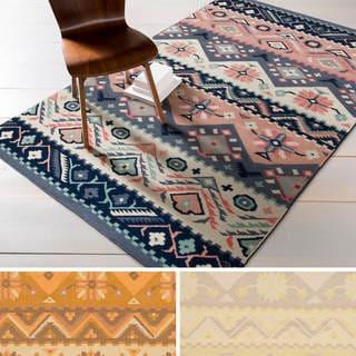 Hand-woven Tess Reversible Wool Rug (3'6 x 5'6)