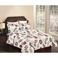 Floral 3-piece Flannel Duvet Cover Set