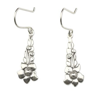 Handcrafted Sterling Silver 'Baroque Blossom' Earrings (Mexico)