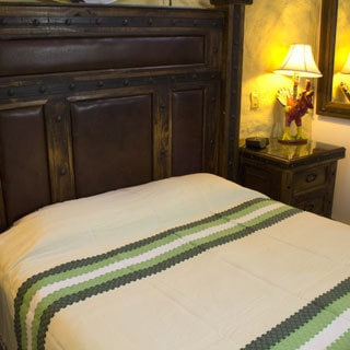 Handcrafted Zapotec Cotton 'Emerald Fields' Bedspread (king) (Mexico)