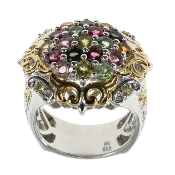 Michael Valitutti Multi-colour Tourmaline Cluster Ring