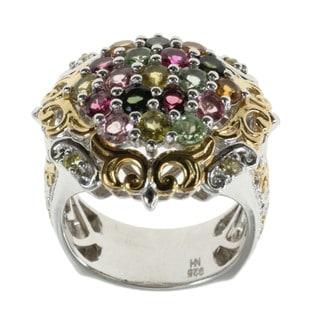 Michael Valitutti Multi-colour Tourmaline Cluster Ring