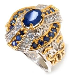 Michael Valitutti Sapphire 'Art Deco' Ring