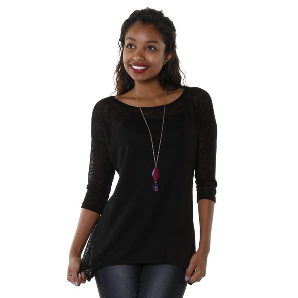 Hadari Women's Open Knit Top