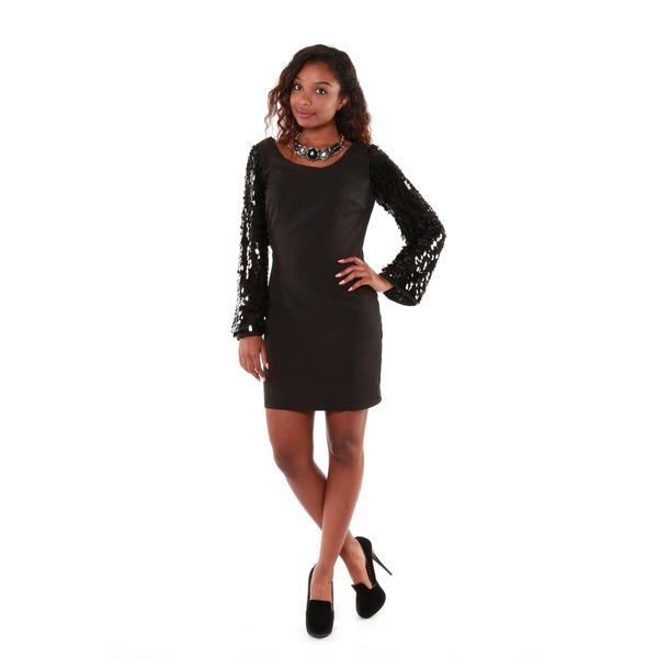 Hadari Women's Sequin Sleeve Dress