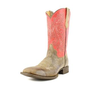 Rocky Men's 'Handhewn' Distressed Leather Boots - Wide (Size 8 )