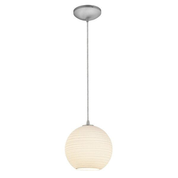 Access Lighting Japanese Lantern Glass 1-light 10 inch Fluorescent Pendant with Cord