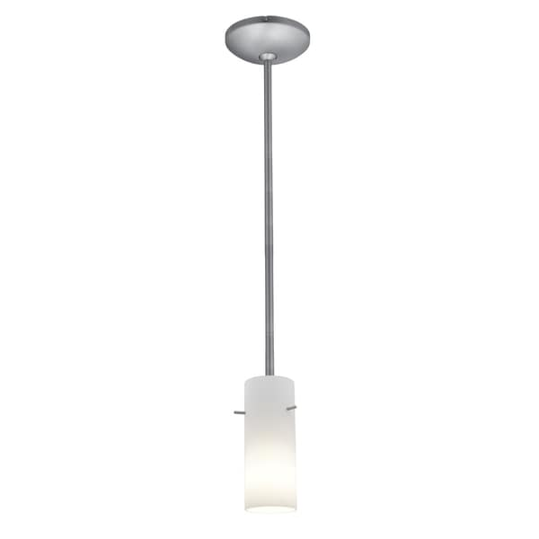 Access Lighting Cylinder Glass 1-light Pendant with Rods
