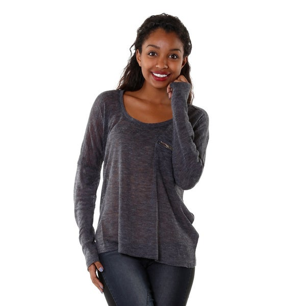Hadari Womens Knit Long Sleeve Top