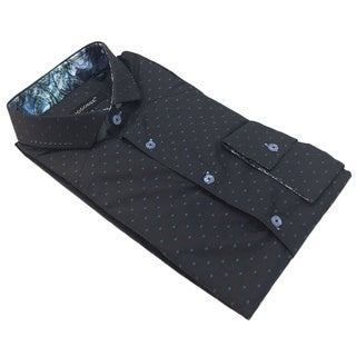 Bogosse Men's Printed Long Sleeve Button Down Shirt