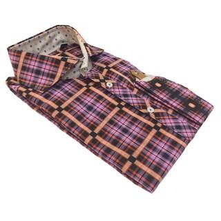 Bogosse Men's Plaid Long Sleeve Button Down Shirt