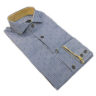Bogosse Men's Stripe and Printed Long Sleeve Button Down Shirt