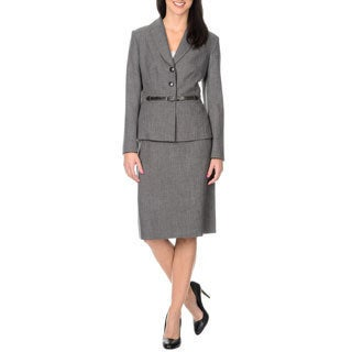 Danillo Women's 2 Piece Grey Skirt Suit
