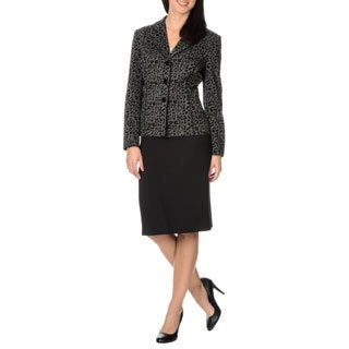 Danillo Women's 2 Piece Leopard Pattern Skirt Suit