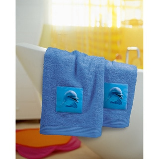Bassetti Blue Dolphin Hand Towel (Set of 2)