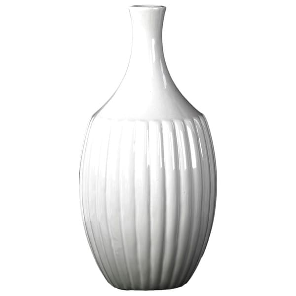 Gloss White Ceramic Small Flower Vase