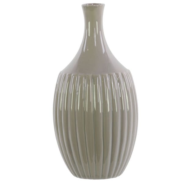 Gloss Grey Ceramic Small Flower Vase