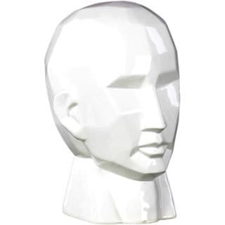 Large Gloss White Ceramic Head