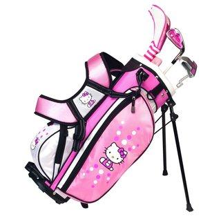 Hello Kitty Golf Pink/ Black/ White Junior Set