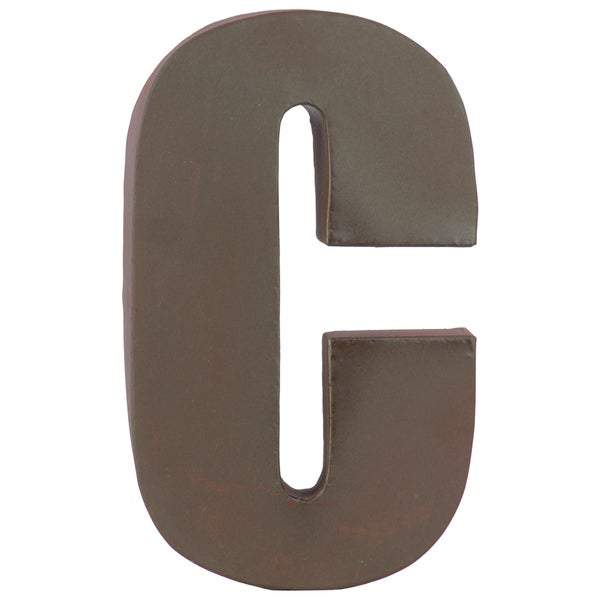 Dark Brown Metal C Letter