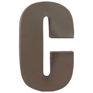 Dark Brown Metal C Letter