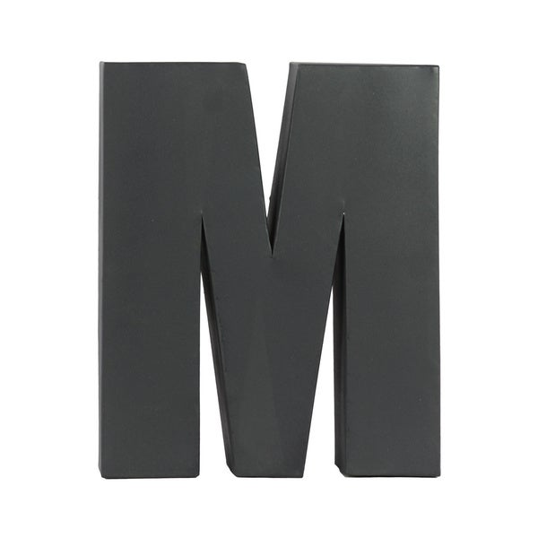 Dark Grey Metal M Letter