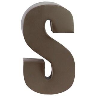 Dark Brown Metal S Letter