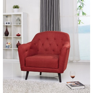 Gold Sparrow Aurora Rustic Red Arm Chair