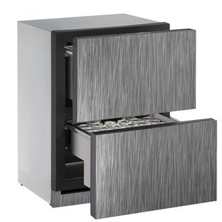 U-Line 3000 Series 3024 - 24 Inch Integrated Refrigerator Drawers