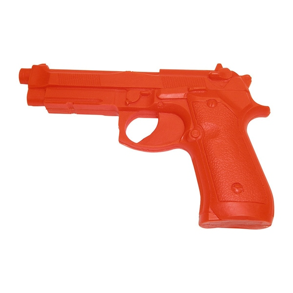 Rubber Practice 92 Pistol Safety Orange Police Trainer