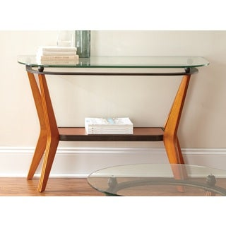 Greyson Living Sutton Glass/ Wood Mid-century Style Sofa Table