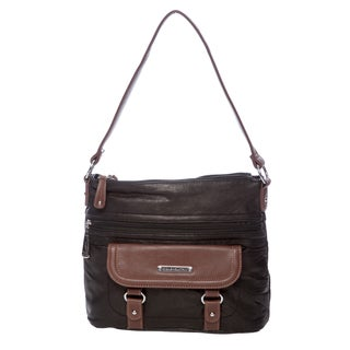 Stone Mountain Oxford Brown and Black Leather Hobo Bag