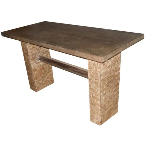 Wooden Urban Stone-look Console Table