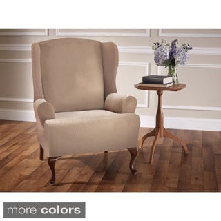 Crossroads Polyester/Spandex Wing Chair Slipcover