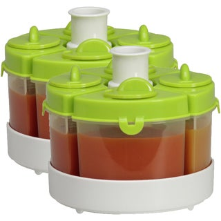 Baby Brezza Green Food Storage System Quattro (2 Pack)