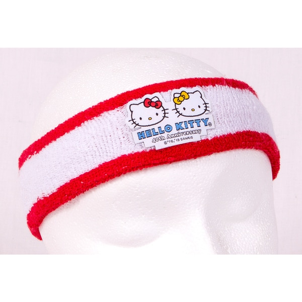 Hello Kitty Sports 40th Anniversary White/ Red Headband